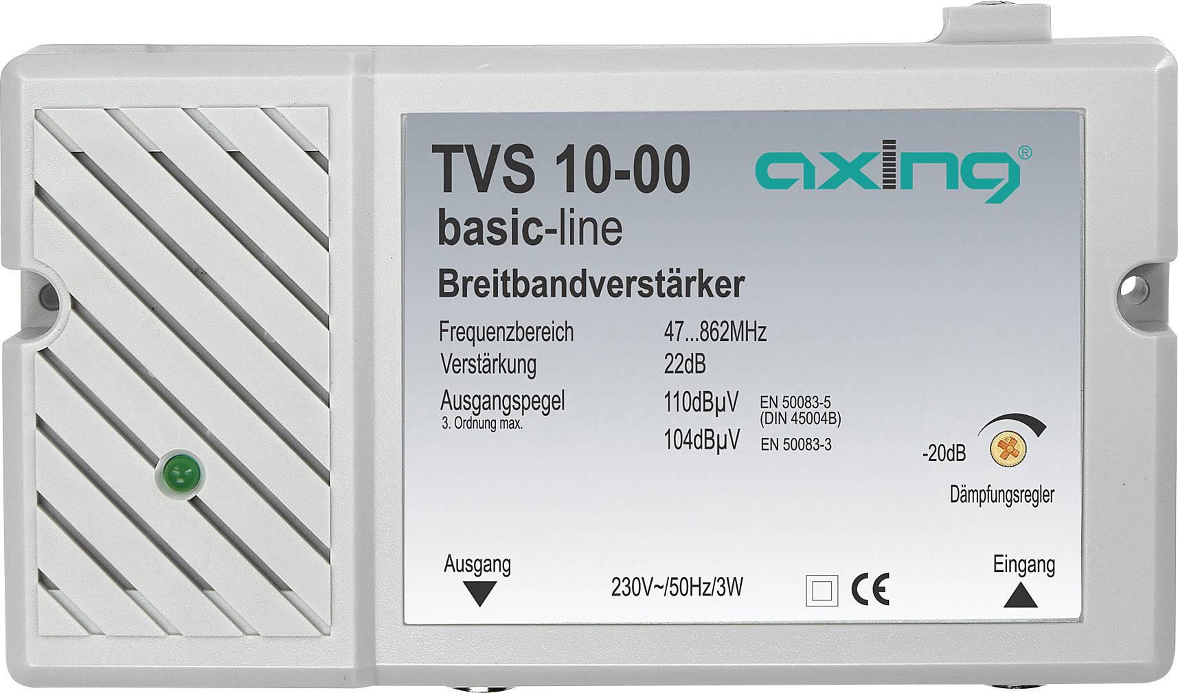 Širokopásmový antenní zesilovač Axing TVS 10, 22 dB