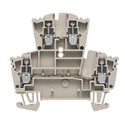 W-Series, Feed-through terminal, Double-tier terminal, Rated cross-section: 2,5 mm², Screw connection, Direct mounting WDK 2.5 ZQV GN Weidmüller Množství: 100 ks