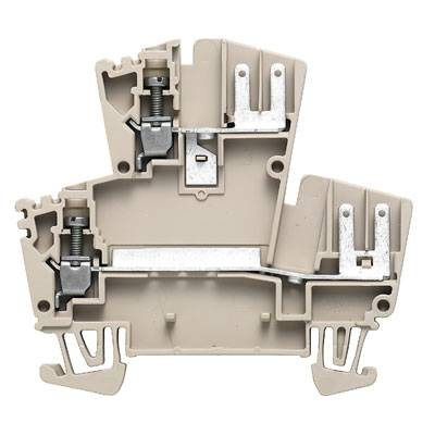 W terminal with cable-lug connection, Double-tier terminal, Rated cross-section: 2,5 mm², Screw connection, Direct mounting WDK 2.5 F BL Weidmüller Množství: 100 ks