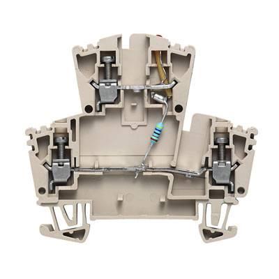 Dvouřadá řadová svorka WDK 2.5 LD RT 24VDC +- Weidmüller Množství: 25 ks