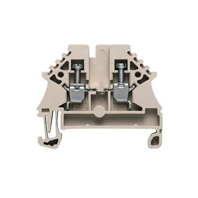 W-Series, Feed-through terminal, Rated cross-section: 2,5 mm², Screw connection, Direct mounting, Dark Beige WDU 2.5N Weidmüller Množství: 100 ks