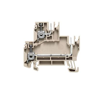 W-Series, Plug-in modular terminals, Feed-through terminal, Double-tier terminal, Rated cross-section: 2,5 mm², Screw connection, WDK 2.5 BLZ/7.62/ZA Weidmüller Množství: 50 ks