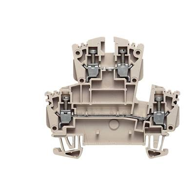 W-Series, Feed-through terminal, Double-tier terminal, Rated cross-section: Screw connection, Direct mounting WDK 2.5/EX Weidmüller Množství: 100 ks