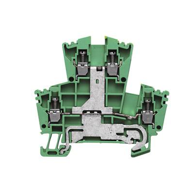 W-Series, PE terminal, Double-tier terminal, Rated cross-section: Screw connection, Direct mounting WDK 2.5PE Weidmüller Množství: 100 ks