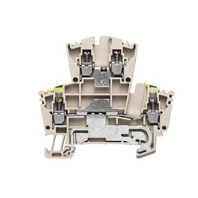 W-Series, Feed-through terminal, Double-tier terminal, Rated cross-section: Screw connection, Direct mounting WDK 2.5DU-PE Weidmüller Množství: 100 ks