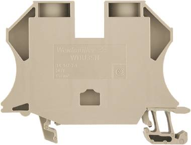 W-Series, Feed-through terminal, Rated cross-section: 35 mm², Screw connection, Direct mounting, Dark Beige WDU 35N Weidmüller Množství: 20 ks