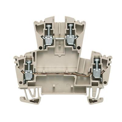 W-Series, Feed-through terminal, Double-tier terminal, Rated cross-section: 2,5 mm², Screw connection, Direct mounting WDK 2.5 ZQV Weidmüller Množství: 100 ks