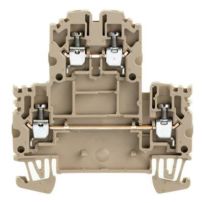 W-Series, Double-tier terminal, Screw connection, Direct mounting, Beige WDK 2.5N Weidmüller Množství: 100 ks