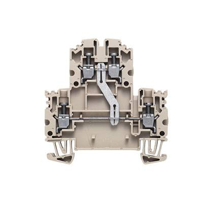 W-Series, Double-tier terminal, Screw connection, Direct mounting, Beige WDK 2.5N V Weidmüller Množství: 100 ks