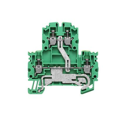 W-Series, PE terminal, Double-tier terminal, Rated cross-section: Screw connection, Direct mounting WDK 2.5N PE Weidmüller Množství: 100 ks