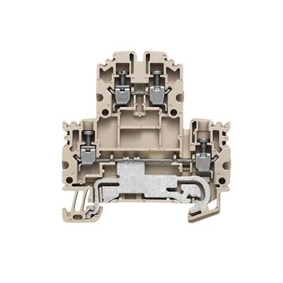 W-Series, Double-tier terminal, Screw connection, Direct mounting, Beige WDK 2.5N DU-PE Weidmüller Množství: 100 ks