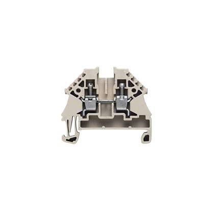 W-Series, Feed-through terminal, Rated cross-section: 4 mm², Screw connection, Direct mounting, Beige WDU 4N Weidmüller Množství: 100 ks