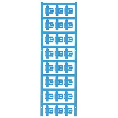 Conductor markers, MultiCard, 21 x 9,3 mm, Polyamide 66, Colour: Blue Počet markerů: 120 SFC 2.5/21 MC NE BL Weidmüller Množství: 120 ks