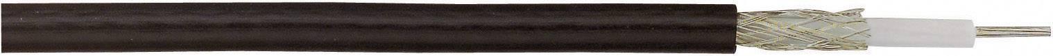 Koaxiálny kábel Kash 606593, 50 Ohm, metrový tovar, čierna