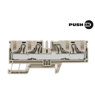 P-series, Feed-through terminal, Rated cross-section: 10 mm², PUSH IN, PDU 6/10/4AN Weidmüller Množství: 50 ks