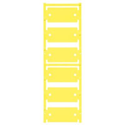 Device markers, MultiCard, 30 x 60 mm, Polyamide 66, Colour: Yellow Počet markerů: 30 CC 30/60 O4MM MC NE GE Weidmüller Množství: 30 ks
