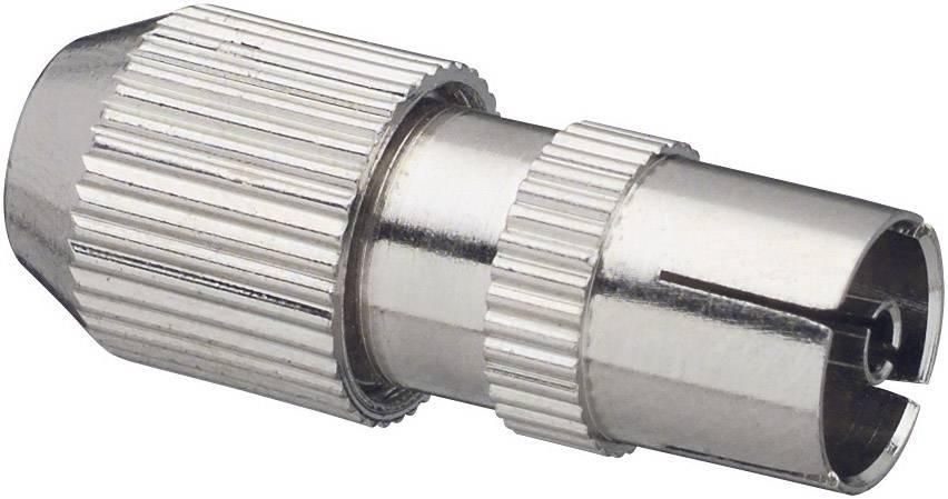 Koaxiálna (anténna) zásuvka RENKFORCE, kovová