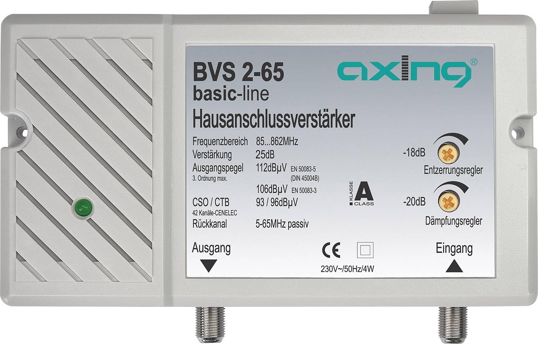 Zesilovač televizního signálu Axing BVS 2-65 25 dB
