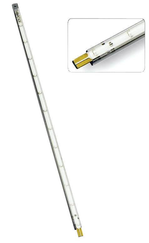 Dekorační LED lišta Rolux, 12x LED, 30 cm, žlutá