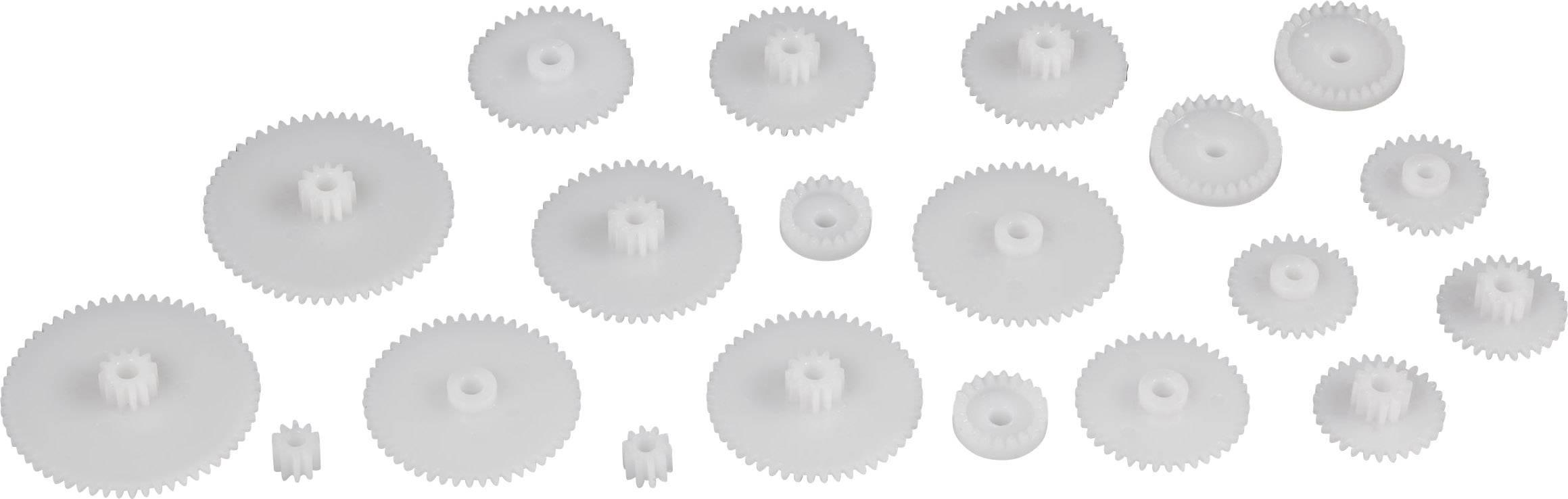 Sada ozubených koleček Modelcraft, zubů 10/20/30/40/50/60, M0.5, 20 ks