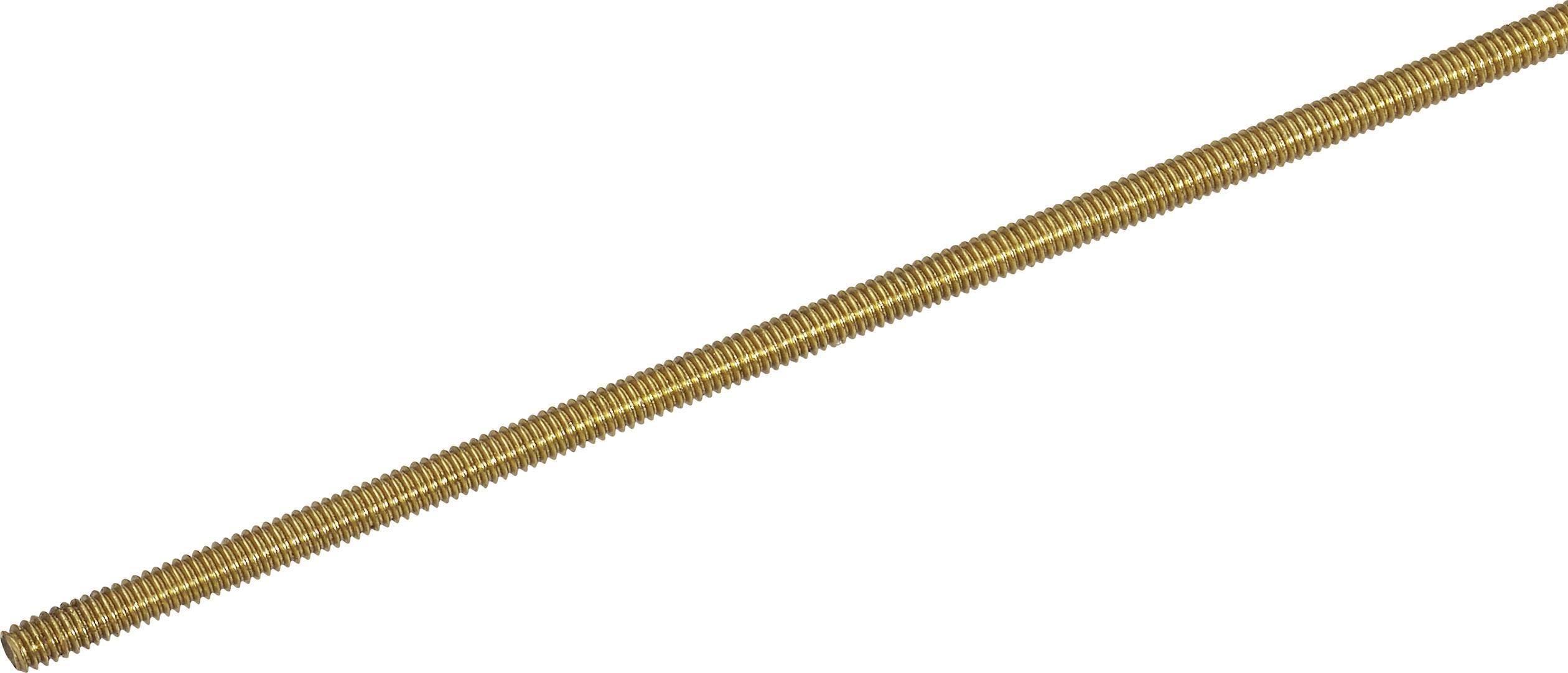Závitová tyč Reely 221786 N/A, M4, 500 mm, mosadz, 1 ks