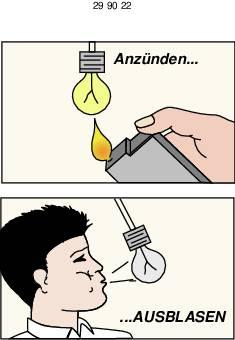 Lampička k zapálení a sfouknutí. 4,5 V/DC, stavebnice