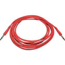Instrumentální kabel s pogumováním JACK 6,3 mm Paccs , 6 m, červená