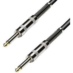 Instrumentální kabel JACK 6,3 mm Paccs, 3 m, low cost, černá