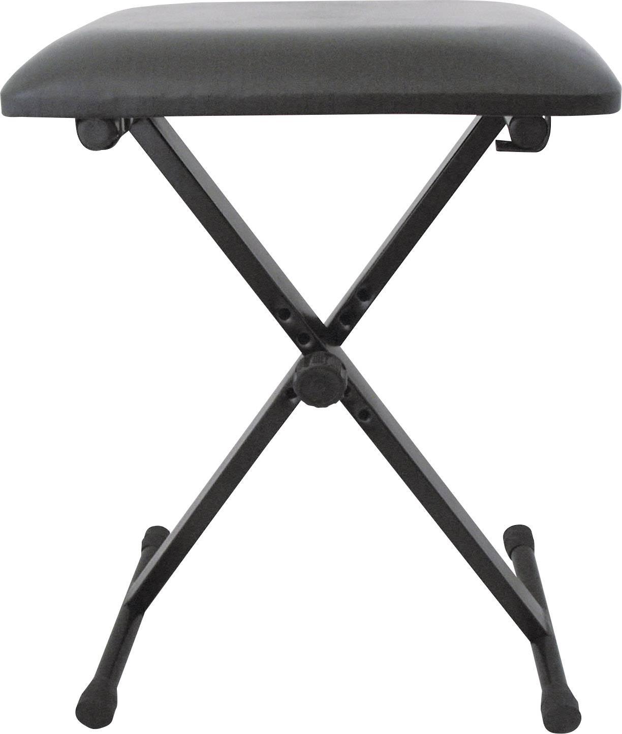 Stolička ku klávesom MSA Musikinstrumente KB 4, čierna