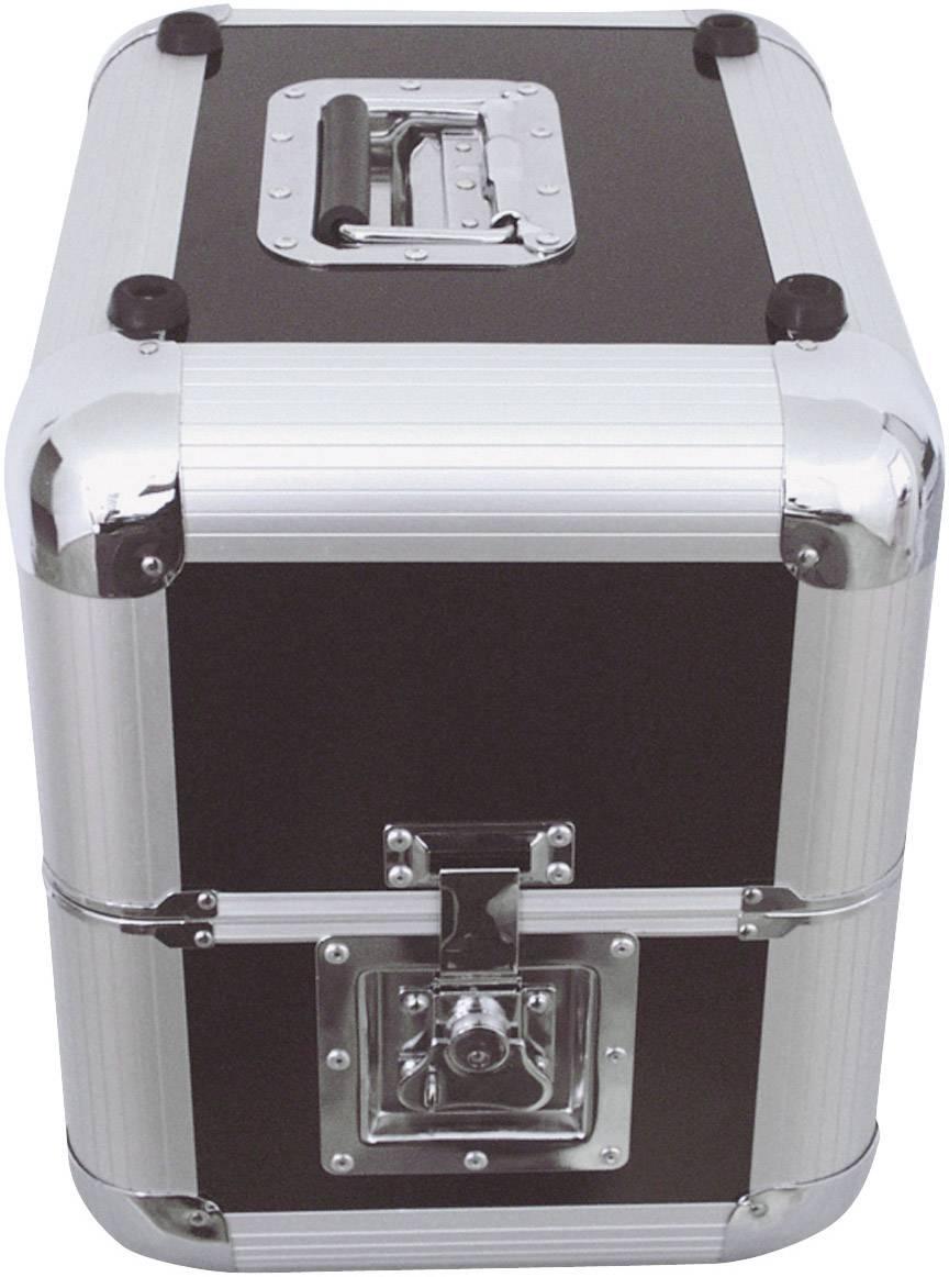 Transportný box/kufor Plattencase Aluminuim 30110030, (d x š x v) 380 x 300 x 365 mm, čierna