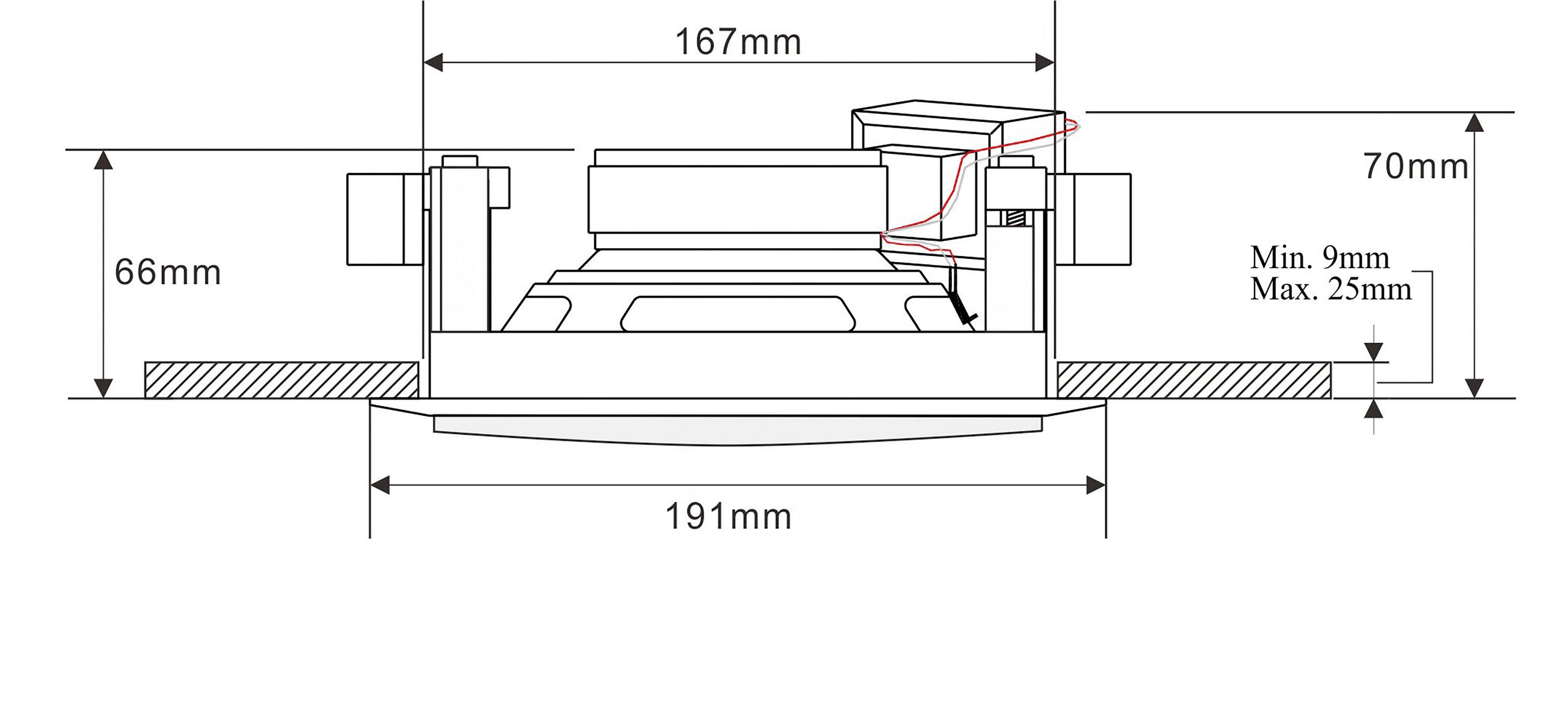 Stropný reproduktor ELA 130 mm