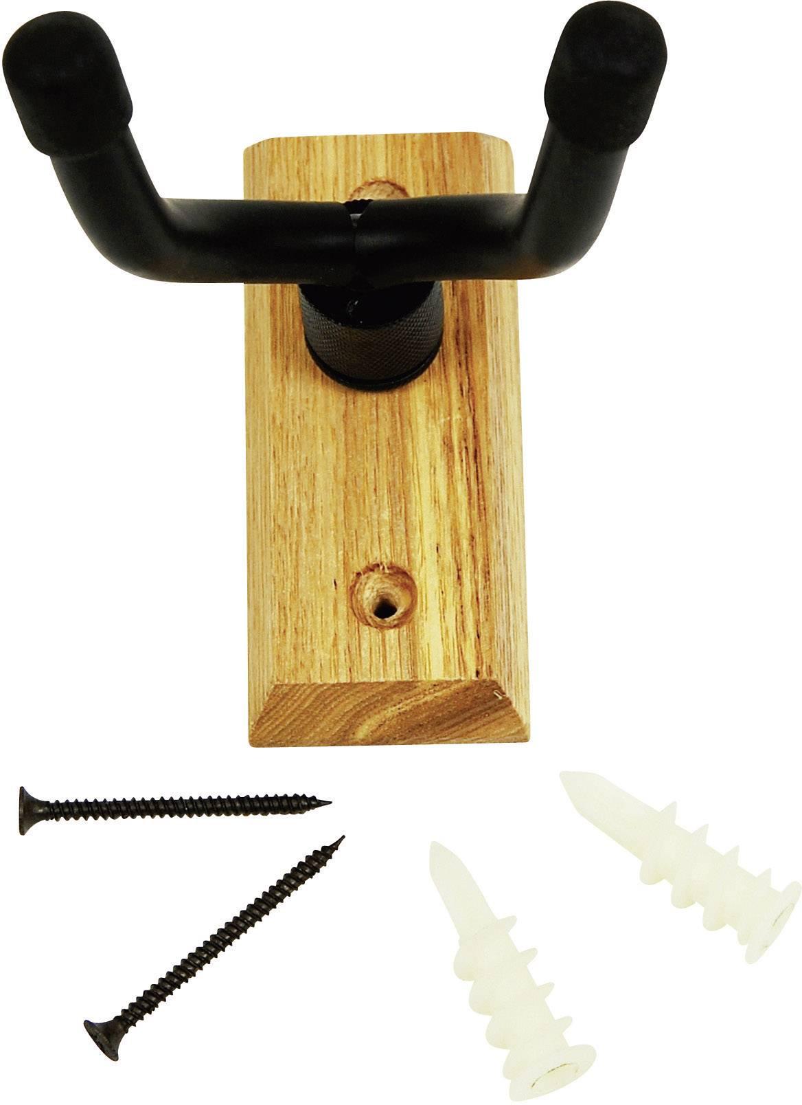 Dřevěný nástěnný držák na kytaru Paccs