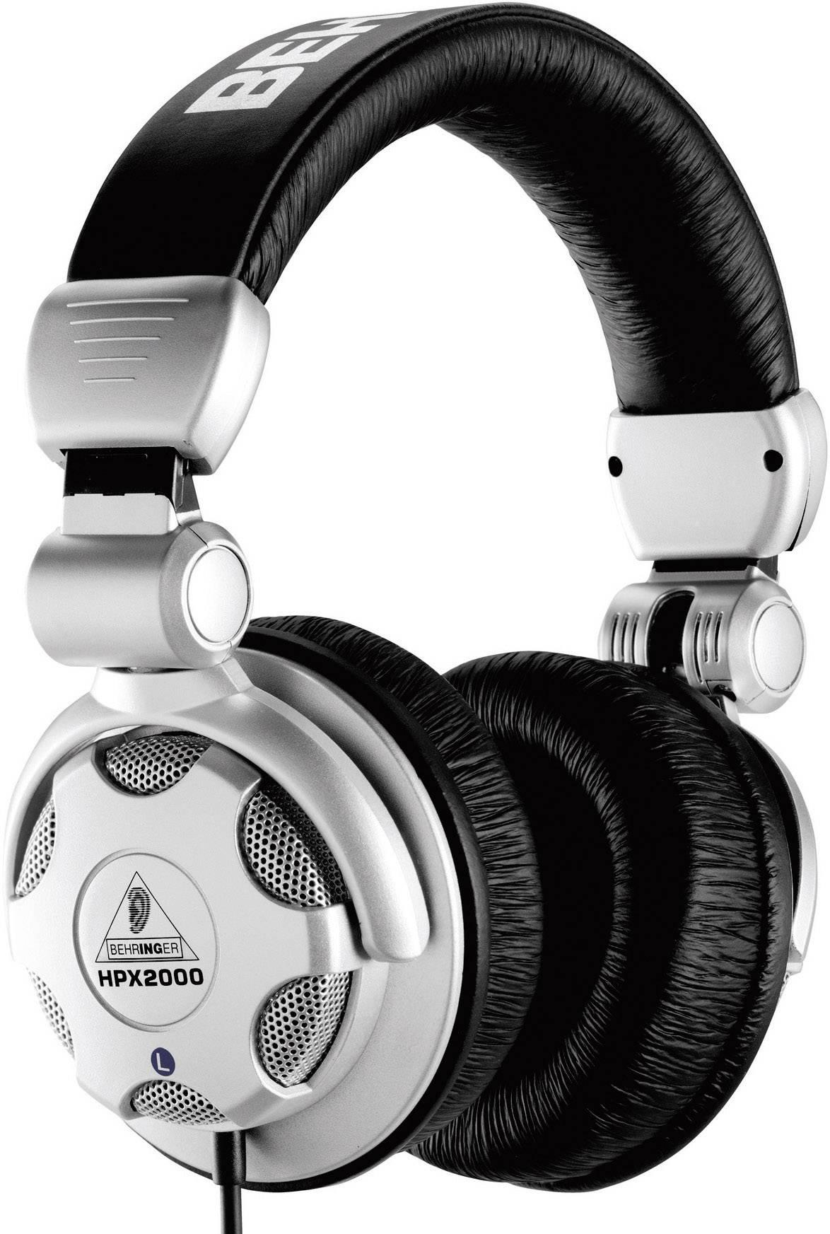 DJ slúchadlá Behringer HPX2000 HPX2000, strieborná, čierna