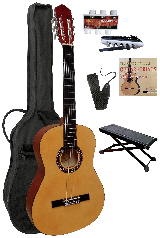 Sada koncertnej gitary MSA Musikinstrumente C22 C22, veľkosť gitary 4/4, prírodná