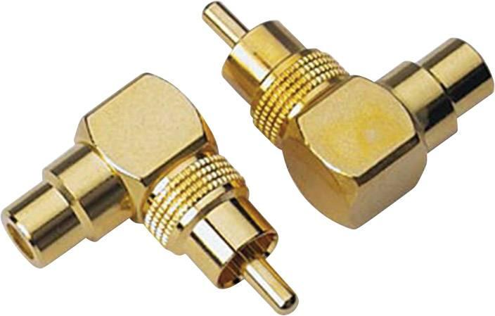 Cinch úhlový adaptér Sinuslive CWS, zlatá