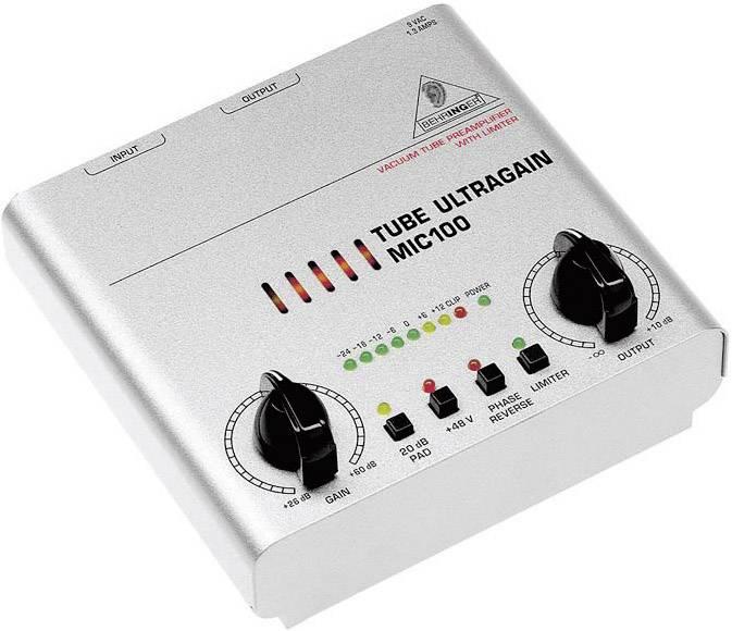 Mikrofónny predzosilňovač Behringer MIC100, 1-kanálový