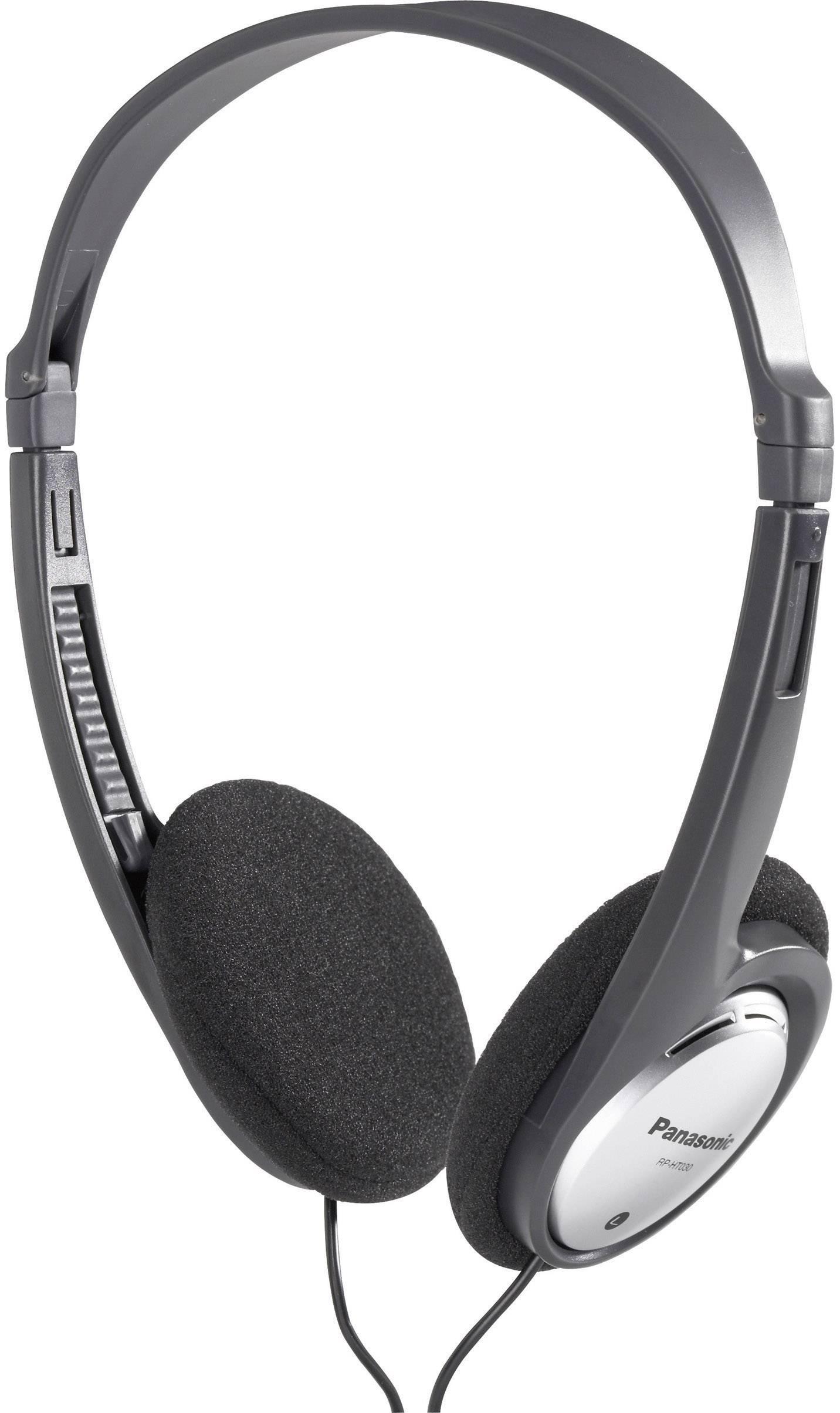 Slúchadlá Panasonic RP-HT030 HT030E-S, čierna, strieborná