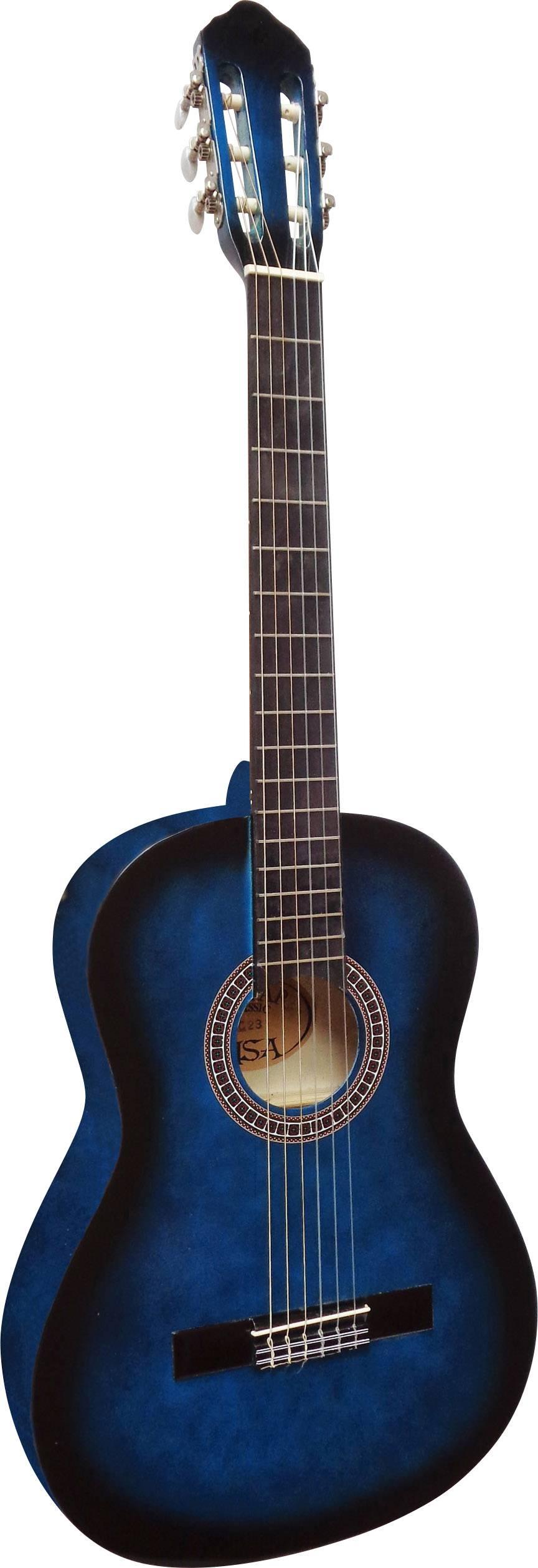 Koncertná gitara MSA Musikinstrumente C23, veľkosť gitary 4/4, modrá