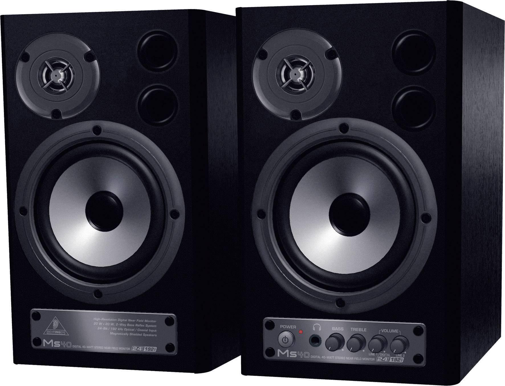 Aktivní monitory Behringer MS40, 4 , 89 dB, 20/40 W, černá