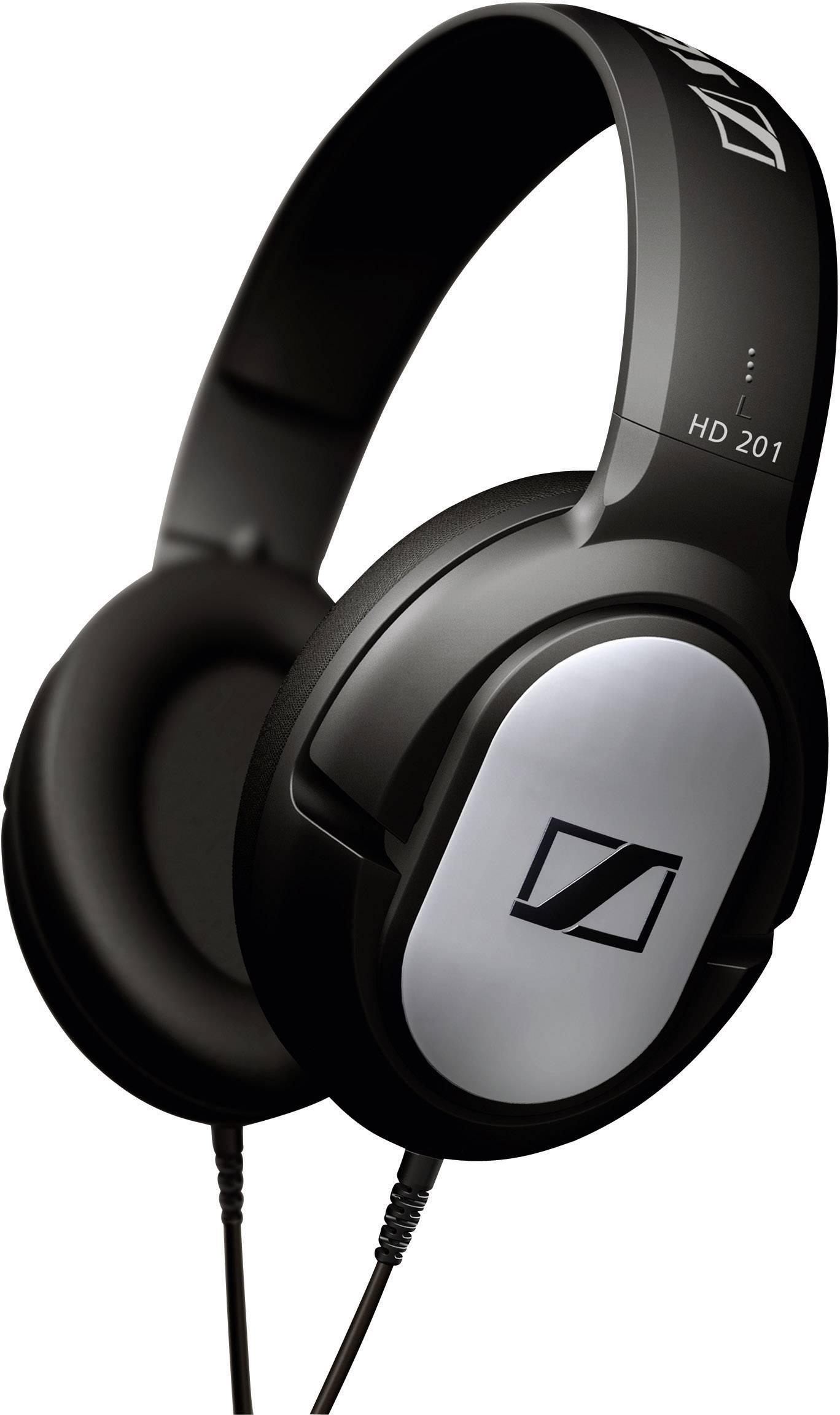 Slúchadlá Sennheiser HD 201 500155, čierna, strieborná