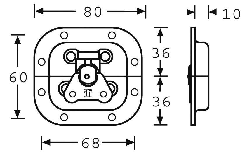 Motýlkový zámek Mc Crypt, 80 x 60 x 10 mm