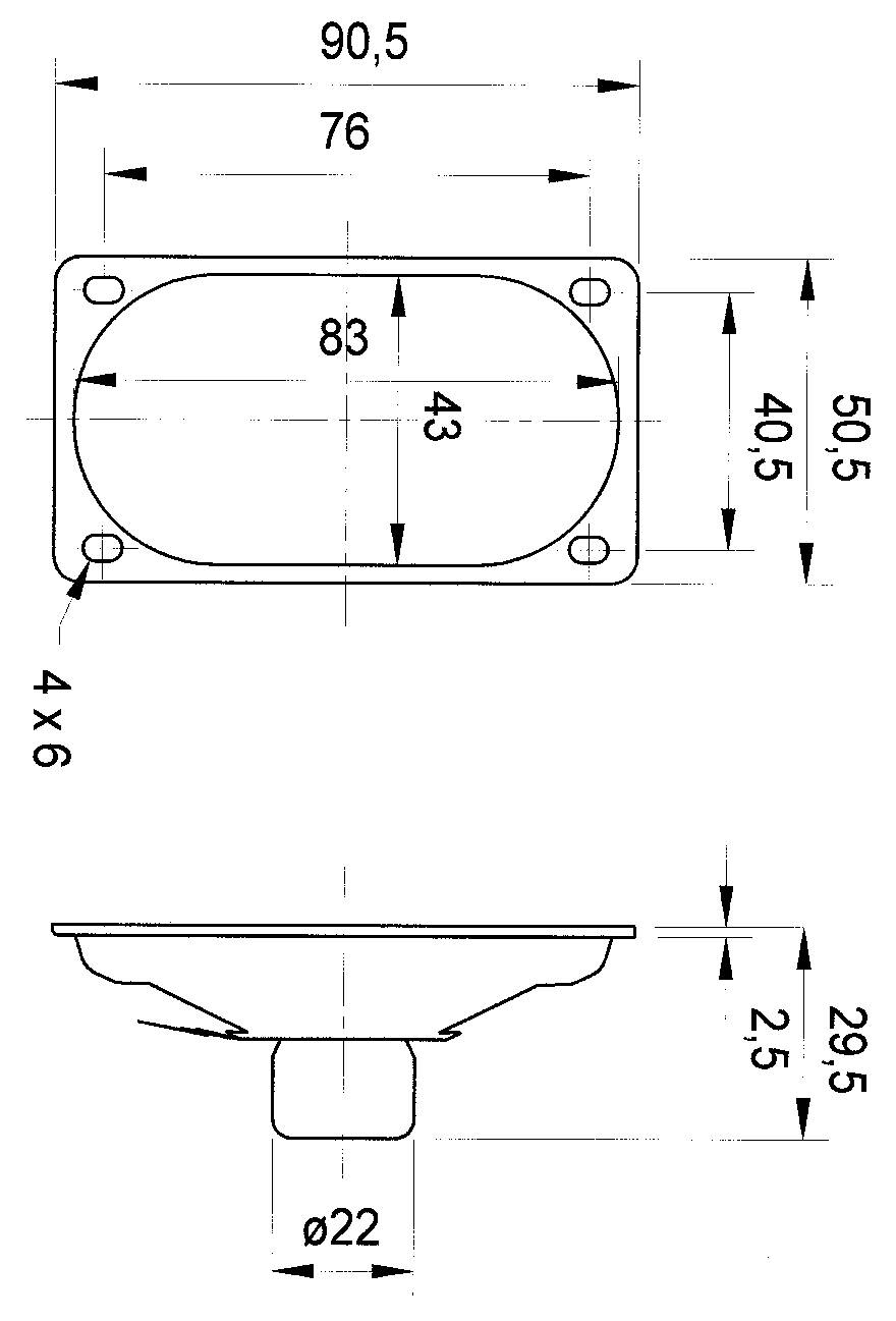 """Širokopásmový reproduktor Visaton SC 5.9 ND, 3 """", 4 Ohm, 3 W"""