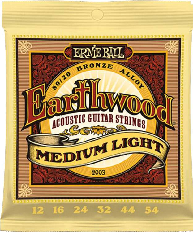 Struny na 12-strunou kytaru Ernie Ball Earthwood Bronze Medium Light, 012 - 054