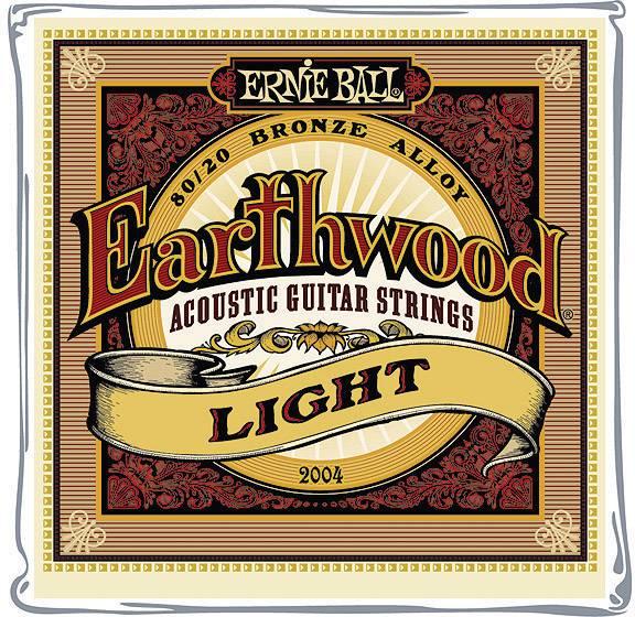 Struny na 6strunovou kytaru Ernie Ball Earthwood Bronze Light, 011 - 052