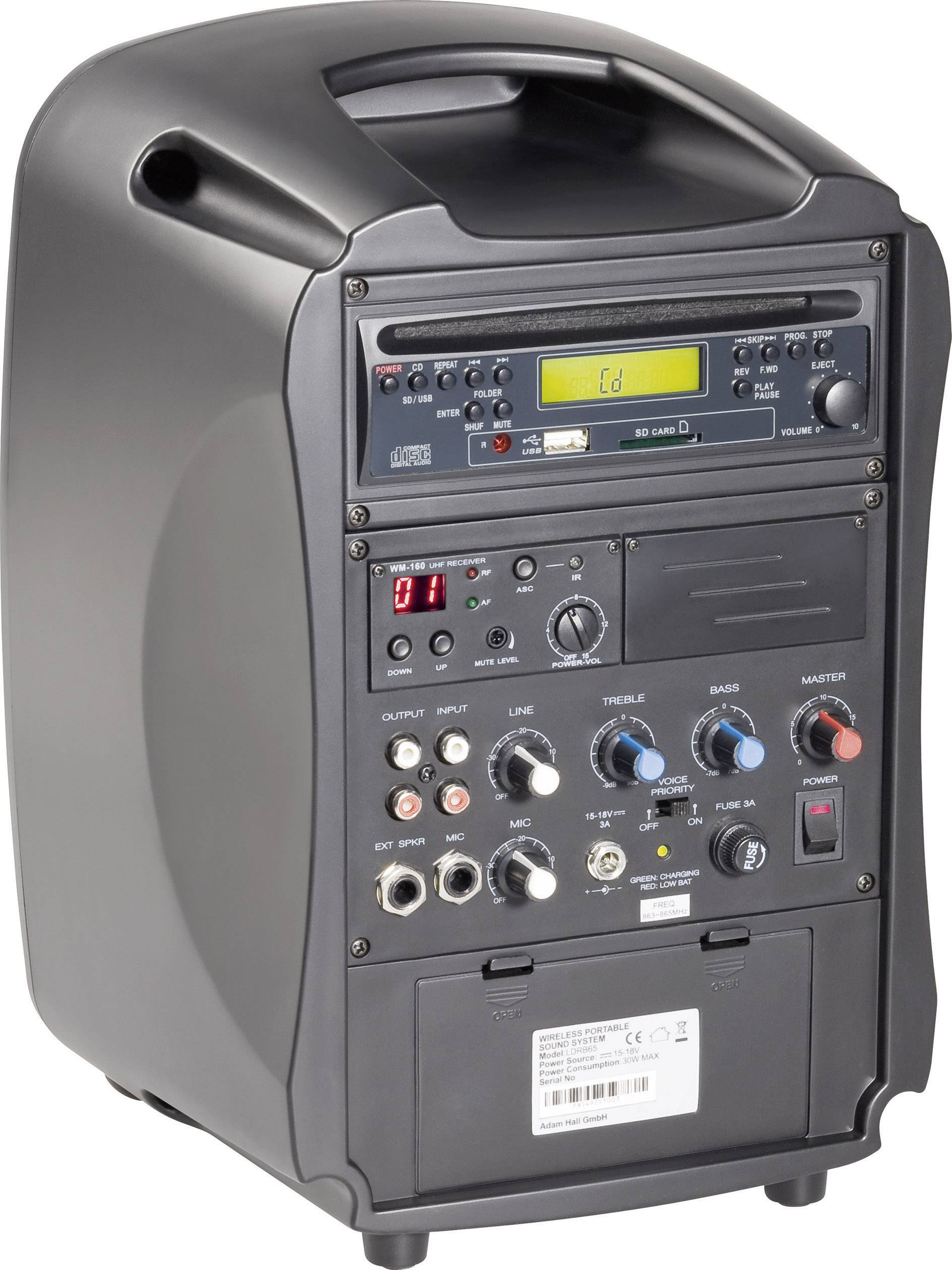 Přenosný PA reprobox LD Systems Roadboy 6.5, 30/100 W