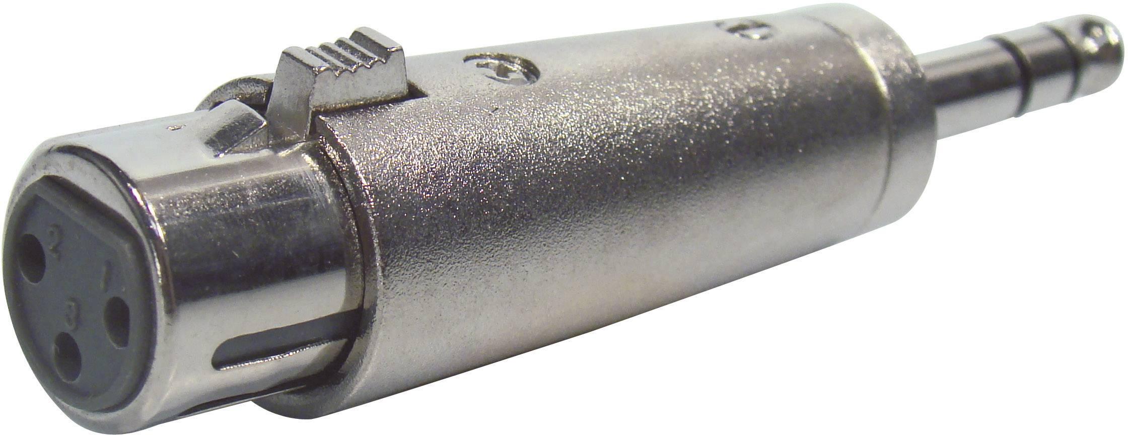 Adaptér Paccs HFA0147 [1x jack zástrčka 6,3 mm - 1x XLR zásuvka], stříbrná