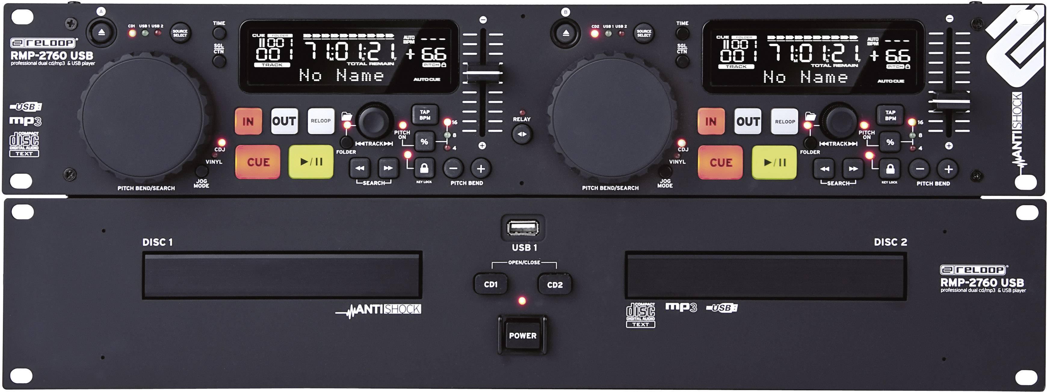 Dvojitý CD/MP3 přehrávač Reloop RMP-2760