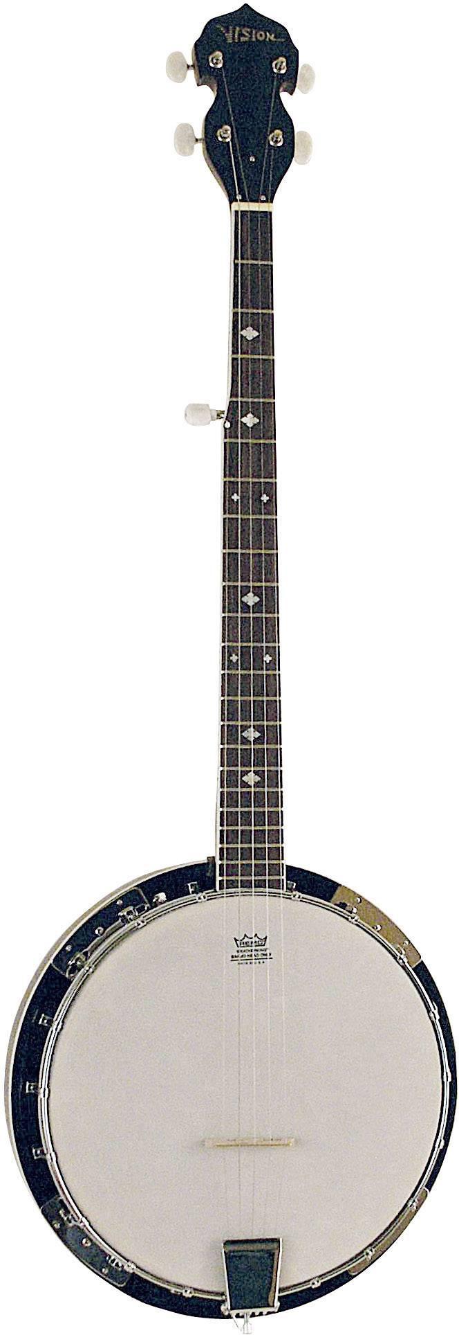 Banjo MSA Musikinstrumente BJ-5, černá/bílá