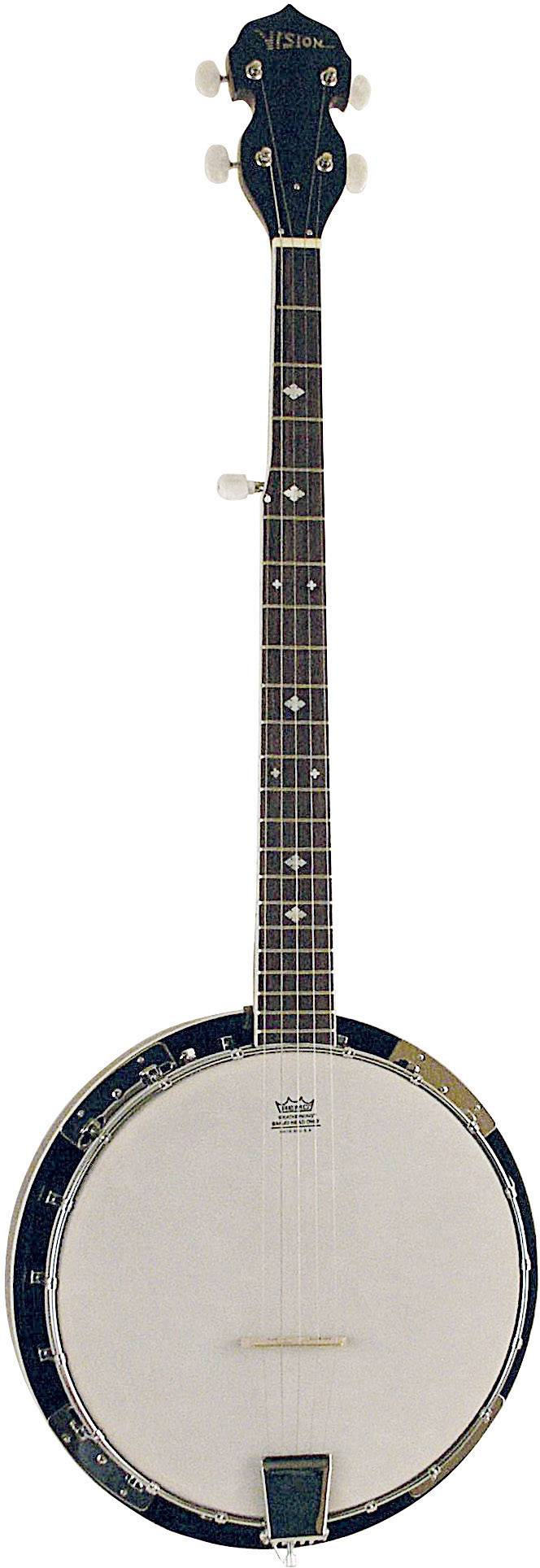 Banjo MSA Musikinstrumente BJ-5, čierna/biela