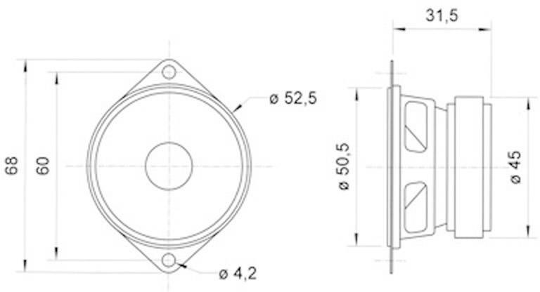 """Širokopásmový reproduktor Visaton FRS 5, 2 """", 8 Ohm, 5 W"""